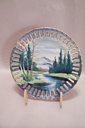 Hand Painted Landscape Collector Plate