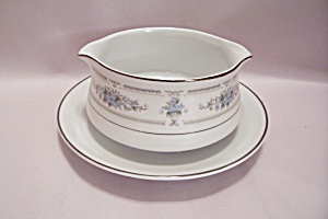 Elington Fine China Gravy Boat With Plate