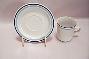 Japan Stoneware Footed Cup & Saucer Set