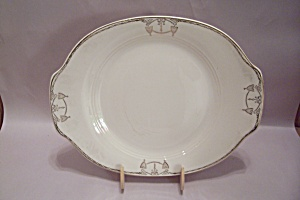 Salem Commodore Pattern Oval China Serving Platter