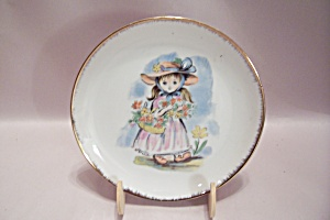 Handpainted Nevco Flower Girl Collector Plate