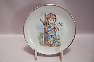 Handpainted Nevco Shepherd Boy Collector Plate