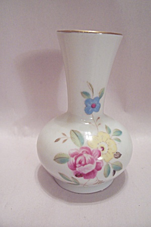Occupied Japan Porcelain Decorated Miniature Vase