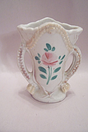 White Floral Decorated Porcelain Toothpick Holder
