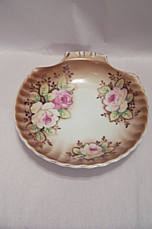 Japanese Porcelain Hand Painted Rose Candy Dish
