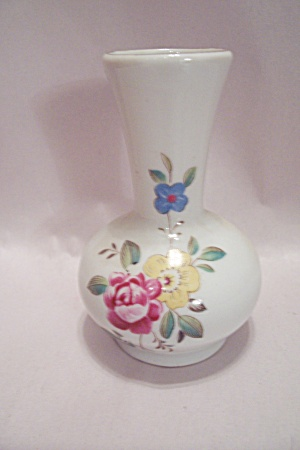 Decorative China Floral Design Miniature Vase