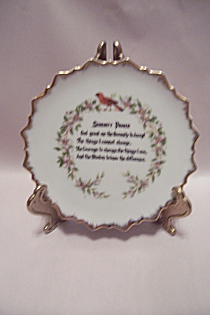 Serenity Prayer Collector Plate
