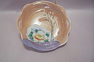 Occupied Japan Peach Lustre Candy Dish