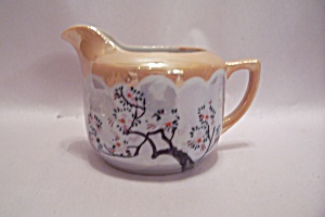 Occupied Japan Peach & Grey Lustre Creamer
