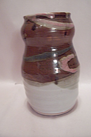 Hand Thrown Earth Tone Glazed Pottery Vase