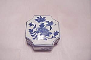 Porcelain Flow Blue Style Lidded Cache Box