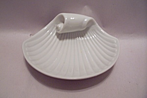 White Porcelain Sea Shell Soap Dish