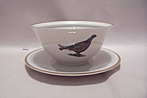 Sissi Pattern China Gravy Boat With Under Plate