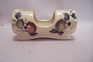 Porcelain Fruit & Flower Decorated Toothpick Holder
