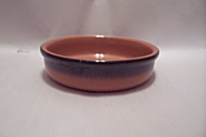 Frankoma Orange & Black Shallow Pottery Bowl