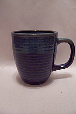 Two Tone Green Art Pottery Mug