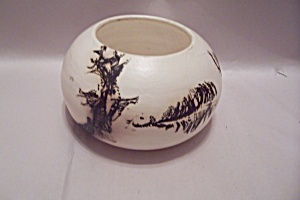 Southwestern Style Hand Thrown Art Pottery Bowl