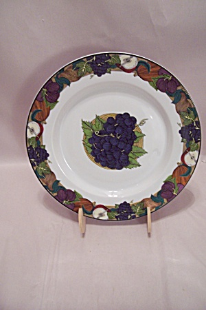 Dansk Cornucopia Grapes Motif Lunch Plate