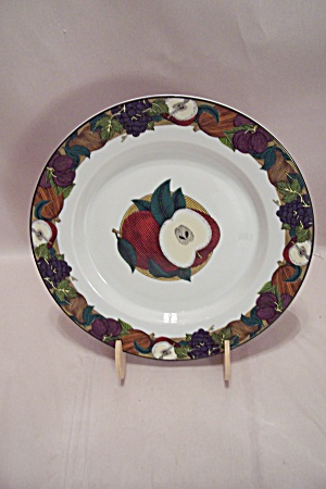Dansk Cornucopia Apples Motif Lunch Plate