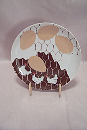 Dennis Kyte China Chicken 4-egg Lunch Plate