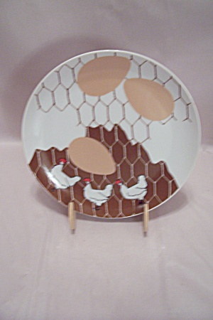Dennis Kyte China Chicken 3-egg Lunch Plate