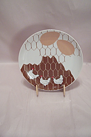Dennis Kyte China Chicken 2-egg Lunch Plate