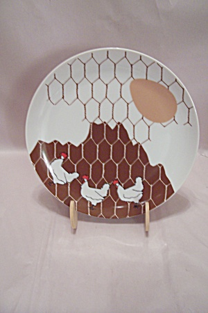 Dennis Kyte China Chicken 1-egg Lunch Plate