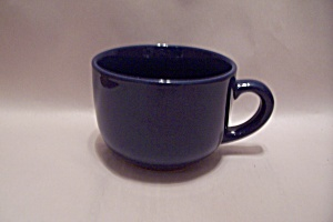 Cobalt Blue Porcelain Large Soup Mug