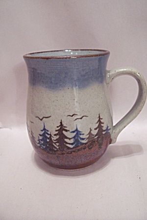 Art Pottery Forest Decorated Mug