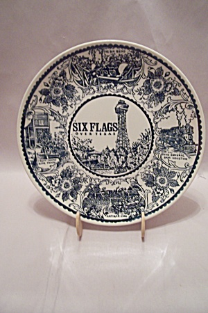 Six Flags Over Texas Souvenir Collector Plate