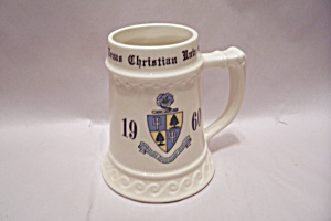 Porcelain 1960 Texas Christian University Beer Mug