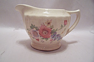 Edwin M. Knowles China Flower Decorated Creamer