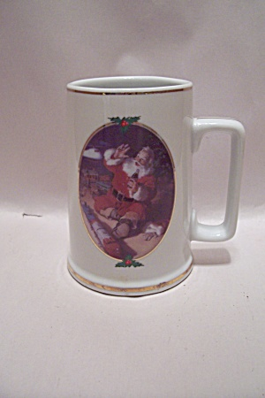 Coca Cola Seasons Greetings Porcelain Mug