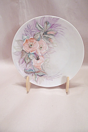 Hand Painted Wildflower China Collector Plate