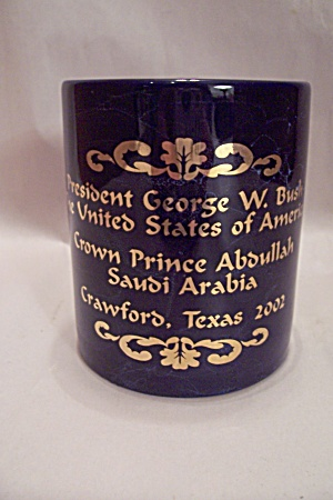Commemorative Porcelain Mug For Usa & Saudi Arabia Mtg