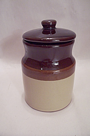 Brown & Tann Pottery Storage :pot/cannister