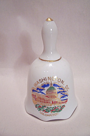 Porcelain Washington D. C. Souvenir Collector Bell
