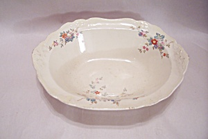 Home Laughlin Virginia Rose Pattern China Oval Bowl