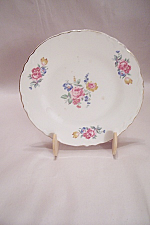 Homer Laughlin Rose Pattern China Salad Plate