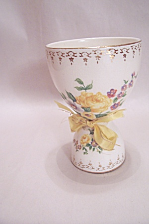Porcelain Flower Decorated Egg Cup