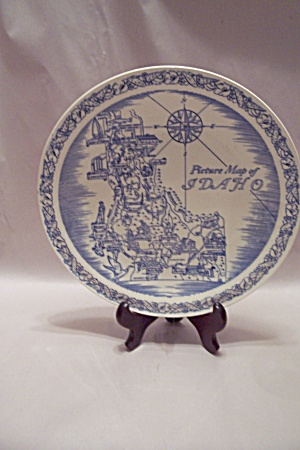 Vernon Kilns Picture Map Of Idaho Collector Plate