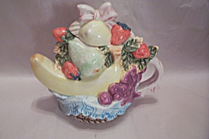 Porcelain Decorative Teapot Cache Pot