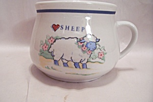 Porcelain I Love Sheep Novelty Mug