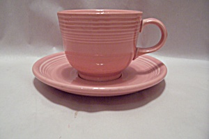 Homer Laughlin Fiesta Ware China Rose 0103 Cup & Saucer
