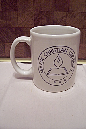 White Porcelain Abilene Christian University Mug