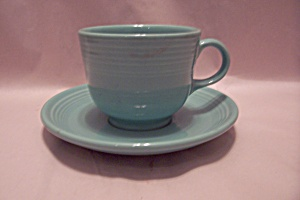 Homer Laughlin Fiesta Ware Sea Mist 0109 Cup & Saucer