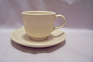 Homer Laughlin Fiesta Ware White 0100 Cup & Saucer