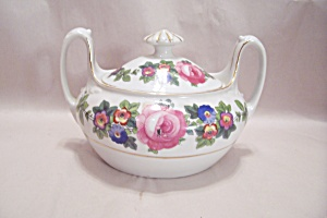 Czechoslovakian Phoenix China Sugar Bowl With Lid