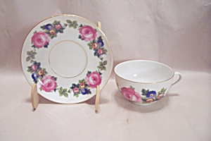 Czechoslovakian Phoenix China Cup & Saucer Set
