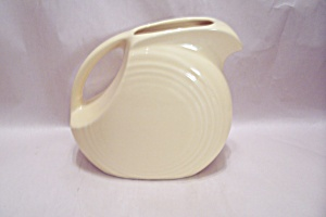 Homer Laughlin Fiesta Ware Yellow Disc Pitcher